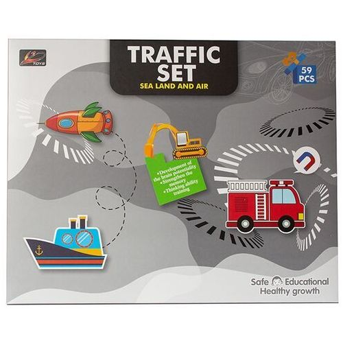 Puzzle, Puzzle magnetyczne - pojazdy