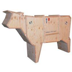 Kredens KROWA - drewno sklejka krowa_sklejka - King Home - Sprawdź kupon rabatowy w koszyku