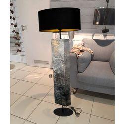Kamień i złoto - modna lampa podłogowa w stylu eklektycznym rabat 20%