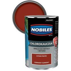Emalia chlorokauczukowa Nobiles do metalu i betonu czerwony tlenkowy 0,9 l