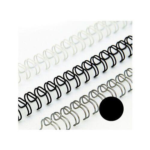 Grzbiety do bindownic, Grzbiety drutowe 6.4 mm, oprawa do 40 kartek, czarne