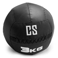 Capital Sports Bravor piłka lekarska Wall Ball PCV podwójne szwy 3kg czarna