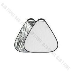 GlareOne Blenda trójkątna 2w1 srebrno biała, 30cm