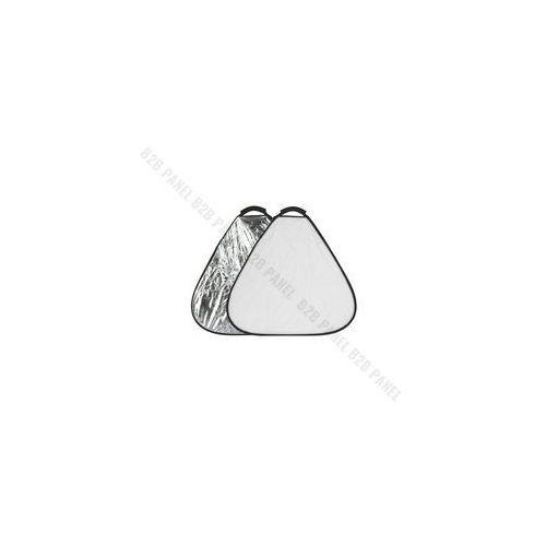 Blendy fotograficzne, GlareOne Blenda trójkątna 2w1 srebrno biała, 30cm