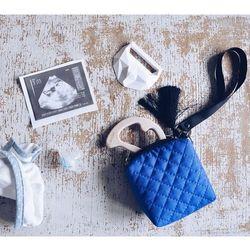 Mini torebka - etui na smoczki, gryzaki i drobiazgi - blue/niebieski - LullaLove