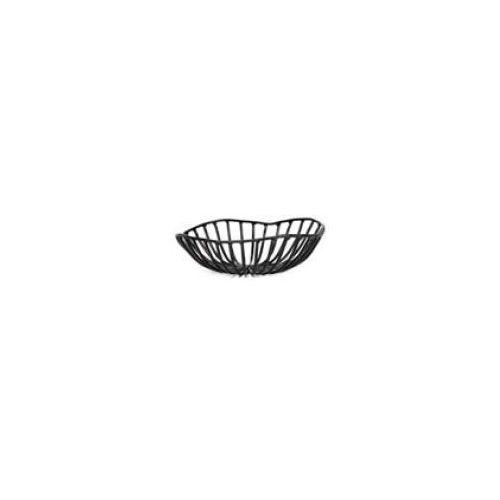 Kosze i pojemniki gastronomiczne, Kosz metalowy CATU czarny śr. 15 cm