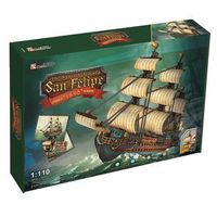 Puzzle, Cubic Fun, puzzle 3D żaglowiec San Felipe
