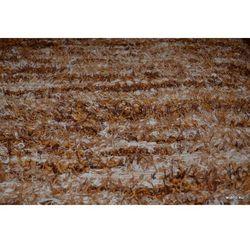 Chodnik bawełniany ręcznie tkany jasno-ciemnobrązowy,ecru 65x150 cm