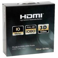 Kable video, Kabel Blow HDMI - HDMI 10m Czarno-biały (5900804049708) Darmowy odbiór w 20 miastach!