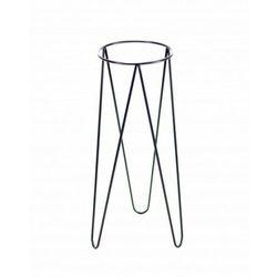 Kwietnik metalowy loft, stojak Czarny 70 cm