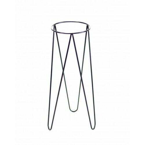 Kwietniki, Kwietnik metalowy loft, stojak Czarny 70 cm