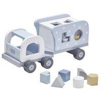 Zabawki z drewna, Kids Concept Klocki Drewniane Samochód Blu