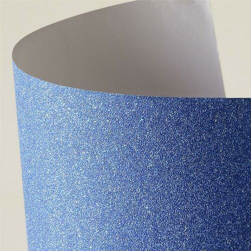 Pozostałe artykuły szkolne, Etykieta samoprzylepna Argo arkusz samoprzylepny brokatowy niebieski A4 kolor: niebieski 150 g (254015)