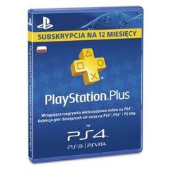 Karta SONY PlayStation Plus 365 dni DARMOWY TRANSPORT