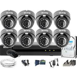 Monitoring Full HD BCS Basic Full HD 2MPx 1TB H265+ 8 x Kamera kopułkowa 2.8mm IR 30m