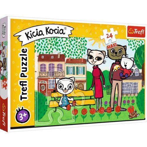 Puzzle, Puzzle 24 maxi Zabawy Kici Koci TREFL