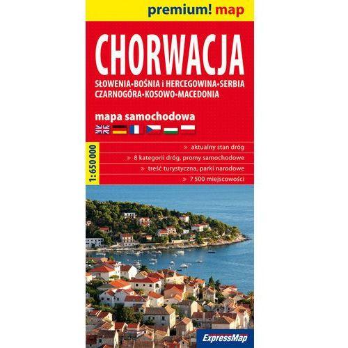 Mapy i atlasy turystyczne, Chorwacja mapa samochodowa 1:650 000 (opr. miękka)