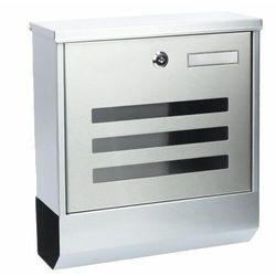Skrzynka pocztowa, na listy, ulotki, stalowa, gazetownik, srebrny darmowa dostawa