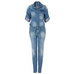Kombinezon dżinsowy bonprix niebieski