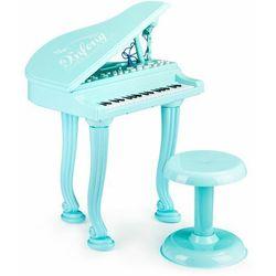 Fortepian, organki, keyboard, pianino z mikrofonem, niebieskie