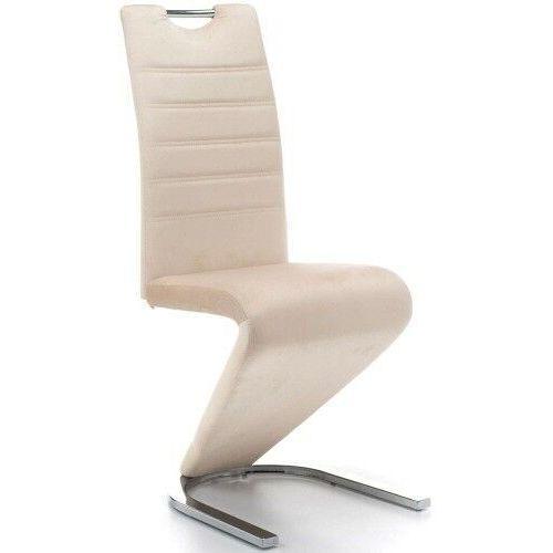 Krzesła, KRZESŁO TAPICEROWANE DO JADALNI DC-99-2 CZARNO-BIAŁE