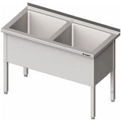 Stół z basenem dwukomorowym 1600x700x850 mm | STALGAST, 981407160