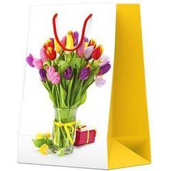 Torebka na prezent 17,5 x 11 x 23 cm motyw kwiatowy 10