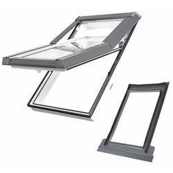 Okno dachowe DOBROPLAST Skylight Premium 78x140 białe + kołnierz falisty zestaw