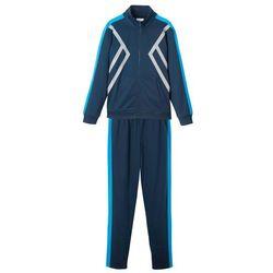 Dres sportowy dziecięcy (2 części) bonprix ciemnoniebiesko-niebieski oceaniczny