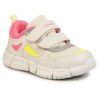 Półbuty i trzewiki dziecięce, Sneakersy GEOX - B Flexyper G. B B022WB 0BC14 C1441 S White/Fluofuchsia