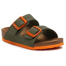 Klapki BIRKENSTOCK - Arizona Kids 1019451 Desert Soil Moss Green/Orange