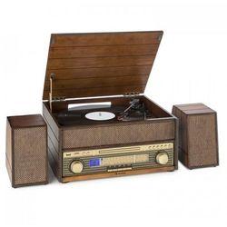 Epoque 1909 System audio w stylu retro Gramofon Odtwarzacz kasetowy Bluetooth USB CD AUX