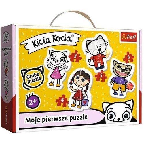 Puzzle, Puzzle Baby Classic - Wesoła Kicia Kocia TREFL
