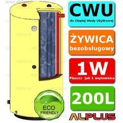 ERMET 200l surowy pionowy dwupłaszczowy bojler do CWU - podgrzewacz wymiennik bezobsługowy - WYSYŁKA GRATIS