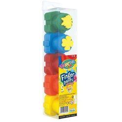 Farby do malowania palcami z pieczątkami Colorino kids 5 kolorów