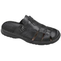 Klapki buty ŁUKBUT 962 Czarne - Czarny