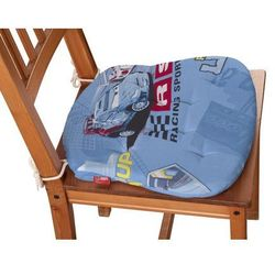 Dekoria Siedzisko Filip na krzesło, samochody na niebieskim tle, 41x38x3,5 cm, Freestyle do -30%