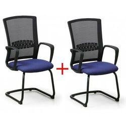 Krzesło konferencyjne Roy 1+1 Gratis, niebieski Włóż do koszyka jedną sztukę, drugą sztukę wyślemy automatycznie gratis. Akcja trwa do wyprzedania zasobów.