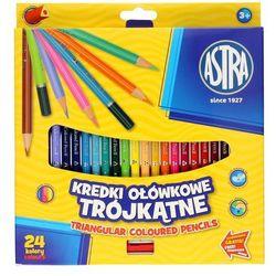 Kredki ołówkowe ASTRA 24 kolory Trójkątne