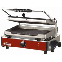 Grille gastronomiczne, Grill kontaktowy żeliwny pojedyńczy ryflowany   365x255mm   3000W
