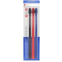 Swissdent szczoteczka do zębów Profi Colours Soft–Medium 3 szt.