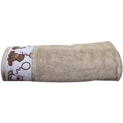 Greno Ręcznik dziecięcy Sweet Bear 70x125 cm, beżowy
