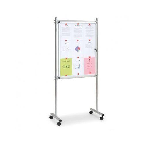 Gabloty reklamowe, Gablota wewnętrzna na stojaku, magnetyczna, jednostronne, z kółkami