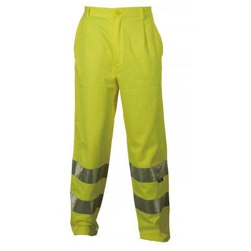 Spodnie i kombinezony ochronne, Spodnie robocze ostrzegawcze żółte, rozmiar L