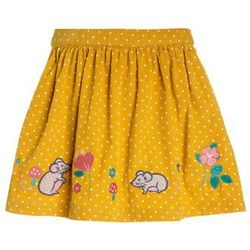 JoJo Maman Bébé MOUSE SKIRT Spódnica mini yellow