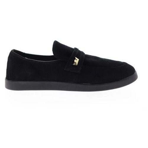 Męskie obuwie sportowe, buty SUPRA - Greco Loafer Black-Black (001) rozmiar: 45.5