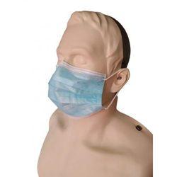 Maska ochronna 3 warstwowa z certyfikatem CE niebieska mocowana na GUMKI