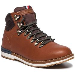 Trapery TOMMY HILFIGER - Outdoor Hiking Lace Leather Bott FM0FM02416 Brandy 601
