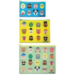 Saszetki Zip Pockets 3 szt. Faces