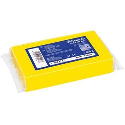 Plastelina do modelow Nakiplast żółta 650g PELIKAN - żółty